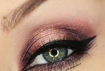 Exotic eye makeup