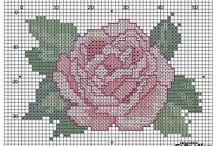 cross stitch patterns - roses
