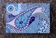 Bandejas en mosaicos