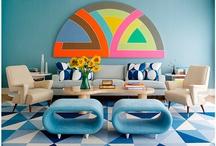 Mid Century Modern Blue Decoration