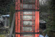 Telephone cells, old /dutch PTT