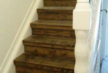Treppen Renovierung Vintage Retro