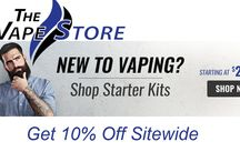 The Vape Store Coupon Codes / The Vape Store is an store of electronic cigarettes, e liquid cartridges, e cigarette starter kits and much more. The Vape Store provide a huge range of vaping products engineered, tested and refined to deliver choices that are more enjoyable than traditional tobacco cigarettes.for more coupons and deals visit: http://www.couponcutcode.com/stores/the-vape-store/