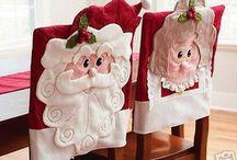 sillas navideñas / como decorar las sillas en navidad