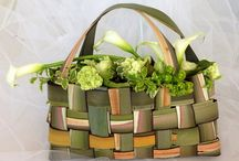 Handbags with plants / Shoes and bags made from flowers and leaves