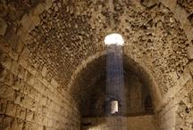 Islamic and Crusader Castles / The Islamic castle of Ajlun, and the Crusader castles of Karak and Showbak.