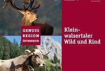 Genussregion Kleinwalsertal - Vorarlberg / Kleinwalsertal gehört zur Genussregion Vorarlberg und Österreich mit den Leitprodukten Wild und Rind. Hier einige Bilder als Geschmacksverstärker
