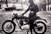 biker babes on classic bikes