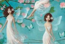 Fate or fairies. Sweet ! / Dolcissime fate o fairies Qualche volta esistono anche nei miei disegni o dipinti...