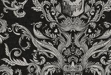 Gothic Home:  Wallpaper, paint, wall coverings, wall decor.