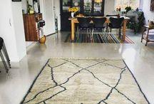 Interior design / Moroccan rugs in Danish Interior Design.