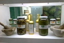 Products / basil pesto, red pesto, EVO, rocket sauce