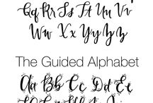 Hand lettering~~