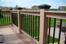 Railings / Different railing styles and colors for decks