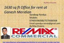 Office for rent at ganesh meridian sg road near high court