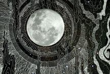 ☽ moon art ☾