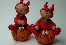 Halloween porcelana fria polymer clay masa flexible pasta francesa modelado figurine / by Ximena Arriagada