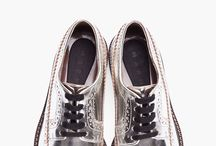 MARNI silver leather brogues ssense