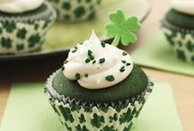 St Patrick's Day cup cakes