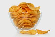 Frutas e legumes chips