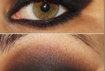 Evening brown eyes make-up