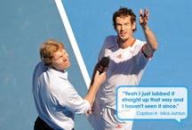 Sm:)e / Tennis moet niet altijd hard tegen hard te zijn, er kan ook gelachen worden.