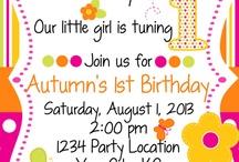 Isabellas First Birthday Ideas / Isabella