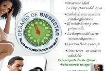 Actividades y Servicios para tu Bienestar / Promoviendo Bienestar, Nutrición y Vida activa.
