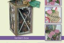 CraftEmotions Stanzschablone Lantern Box / CraftEmotions Stanzschablone: Lantern Box Card, 58x160x58 mm