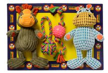 Biscuit's Dog Toys / Value mixed material multi packs full of fun toys.
