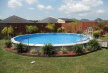 Backyard-Water Fun Idea's / Above Ground Pool Idea's / by Linda Finni