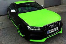 Horváth Szilárd Audi S5 in neongreen/black.. Id give to have this beast.!
