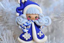 fimo boneca natal