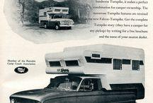 Truck Camper Vintage Ads
