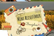 Mini-Reiseführer  - Mini Travel Guides / The Mini Travel Guide comes as a postcard. With a stunning design I made on one side and my very special travel tips on the other side it will help you to enjoy every minute of your trip.  available in German and soon in English Current destinations: BEAUJOLAIS, PROVENCE, LANGUEDOC  coming soon: BARCELONA, MONTPELLIER, TOULOUSE, PERPIGNAN AVAILABLE ONLINE - please follow the Link