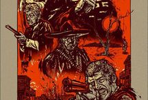 illustrated movie posters
