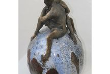 My Ceramic Sculptures / Ceramic sculptures and reliefs. Raku, stoneware and earthenware.