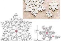 Снежинки вязание