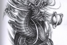 Dragon Tattoo Design / Tattoo Design