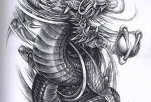 Dragones para tattoo