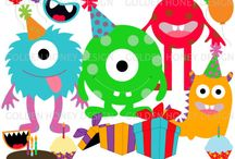 Monster clipart set