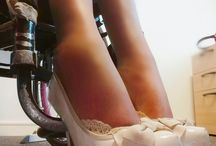 Wheelchair women in high heels