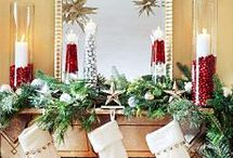 Red and white Christmas decorations  / by Cindy Cypert