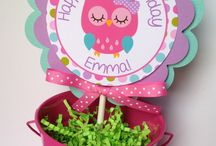 Owl birthday ideas / Decoration, cake, balloons, invitation