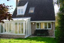 The Ham 1999 / A nice, straightforward, lean-to conservatory. Note how the conservatory roof is leaded and cut into the house roof for a tidy, no-leak finish.