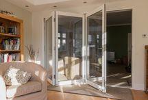 Folding, sliding doors