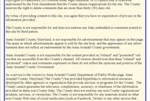 Policy / Anne Arundel County has created a social media policy for all users. Please read.