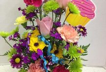 Happy Birthday Flowers & Gift Baskets / We love to celebrate birthdays! Here are some fun floral and gift basket arrangements that say Happy Birthday just for you!