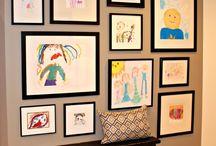 children's art displays