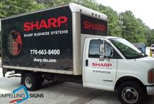 Vehicle Graphics - Large Trucks, Trailers and Buses / Box trucks and trailers are virtual billboards and a very effective way to advertise your company with the right graphics